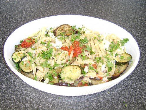 Roasted mediterranean Vegetables Tagliatelle