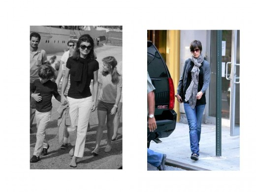 Jackie and Katie Similar and Elegant Scarves Today and From Yesteryear