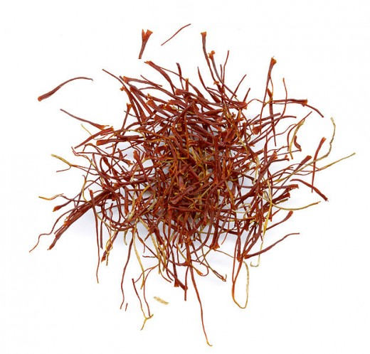 Saffron Threads, used in recipes after soaking, or crushing after heating