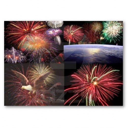 Nothing better than watching a fireworks display with all the bright colors exploding in the black background of the sky.