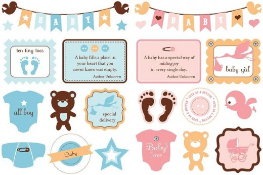 Baby Stickers For Scrapbooking Baby Boy Poem For Page Sticker