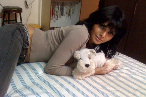 Sherlyn Chopra with her bed-mate