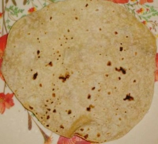 An example of the Indian bread, Roti.