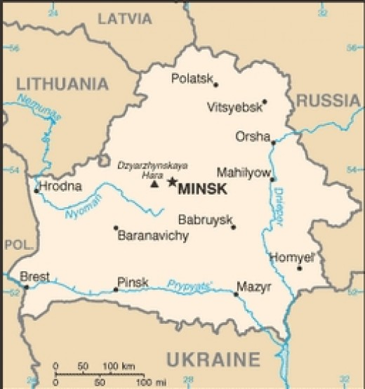 CIA map of Belarus (Public domain images this page.)