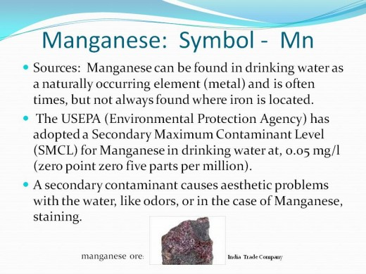 Manganese SMCL (secondary maximum contaminant level)