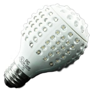 I know what you're thinking, but no, this is not an alien grenade from the Zargax nebula.  It is an LED light bulb!