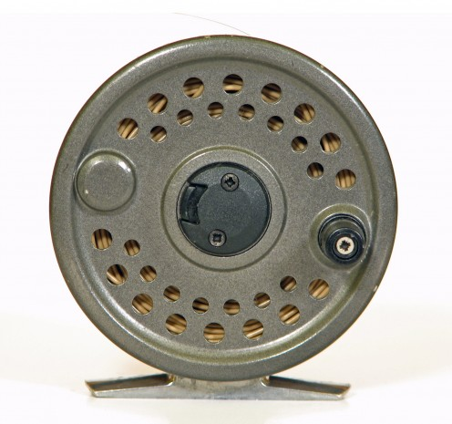 A fly reel.