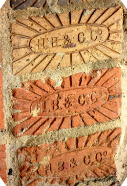 Some of the old bricks used in the sidewalks and streets