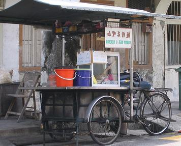 A typical noodle vendor