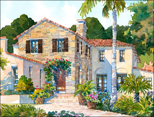 Tuscan Village Style Home