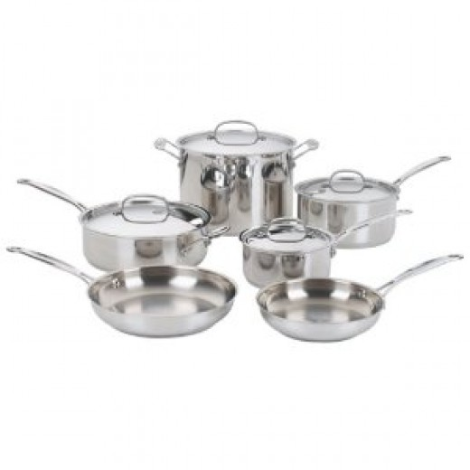 Cuisinart Chef's Classic Stainless-Steel 10-Piece Cookware Set