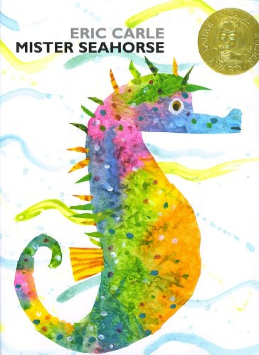 Mister Seahorse by Eric Carle displays the artist/author's art skills at his finest in a series of underwater camoflouge images.