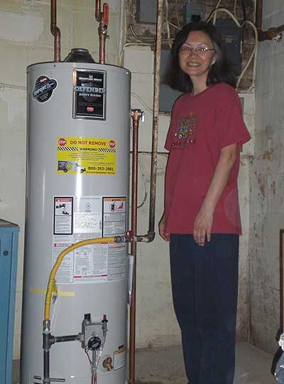 Most homes have a hot water heater that is a back up storage against times of shortages or disruptions.