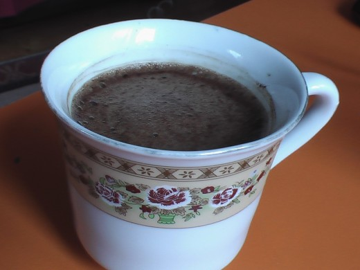 this is my cup of freshly brewed turkish coffee