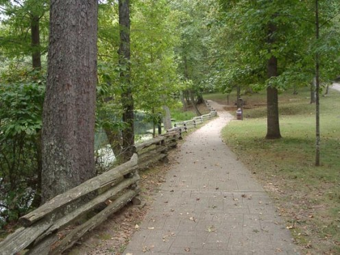 """Trails at Maramec Spring Park"". Maramec Spring Park is located approximately 6 miles East of St. James, Missouri. (Found this random path to follow on Google Images)"