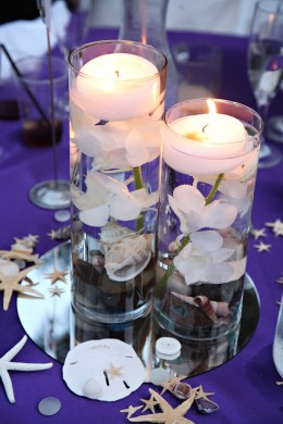 A Centerpiece of Floating Candles