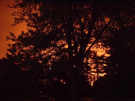 Western sky after a close call with a tornado.