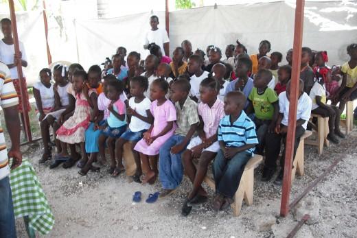 Beautiful, resilient Haitian children at Cottard Church