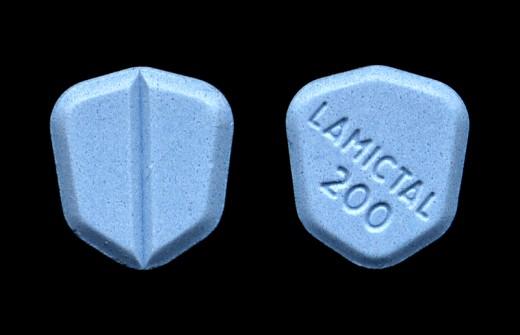 Lamictal tablet, 200 mg.