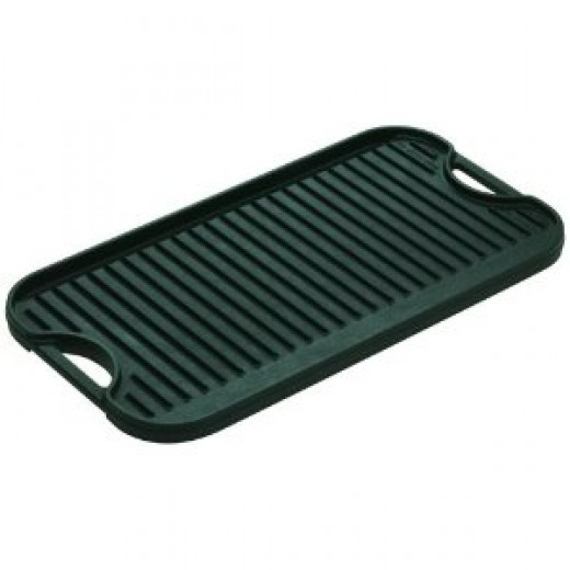 Lodge Logic Pro 20-by-10-7/16-Inch Cast-Iron Grill/Griddle