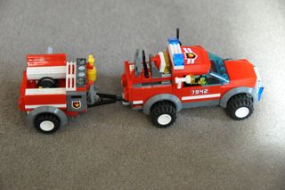 Rescue truck and trailer.