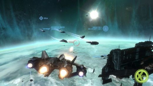 Space battles in Halo Reach!