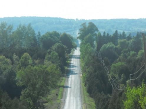 Ribbon of road to Georgian Bay (Airport Road)