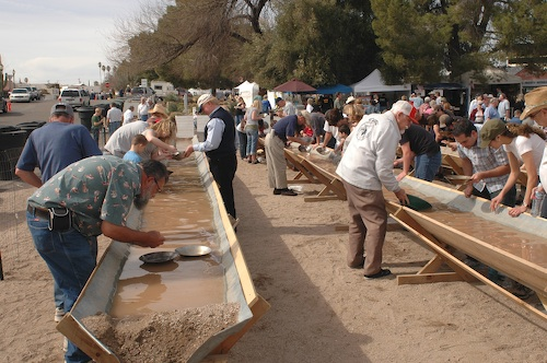 Panning for gold during Wickenburg's annual Gold Rush celebration.