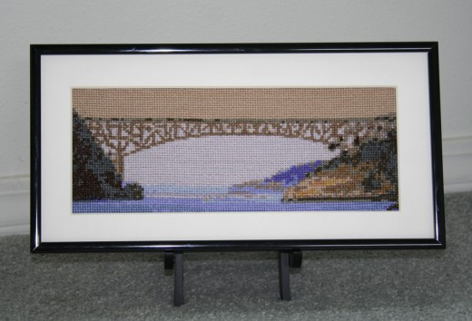 Deception Pass Bridge framed on a stand 10 x 4