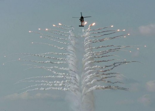 Countermeasures are very cool when used by jets and helicopters.