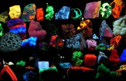 Crystals Under Black Light
