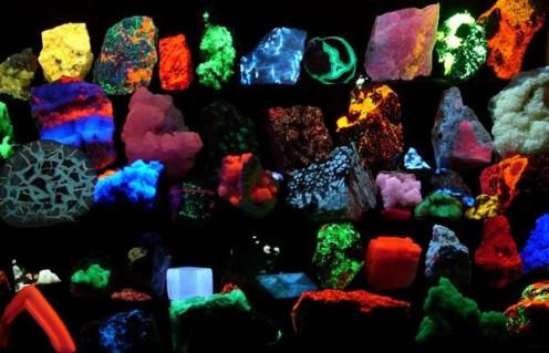 Crystals Under Black Light