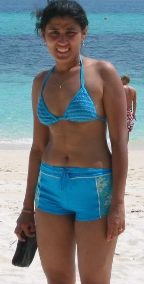 Indian Bikini Girls Abroad - Sexy Hot  Babes in Beach Image 1