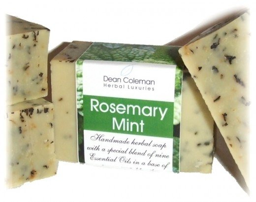 Rosemary mint herbal aromatherapy soap