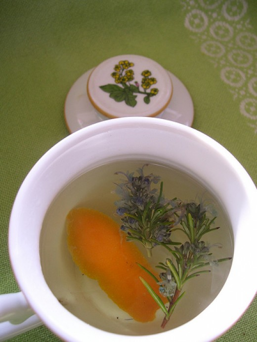 Rosemary Herbal Tea Pic