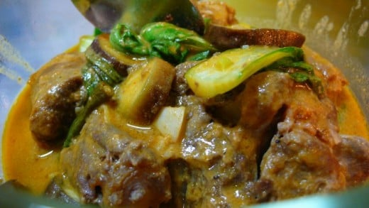 KARE-KARE or BEEF OXTAIL in PEANUT SAUCE
