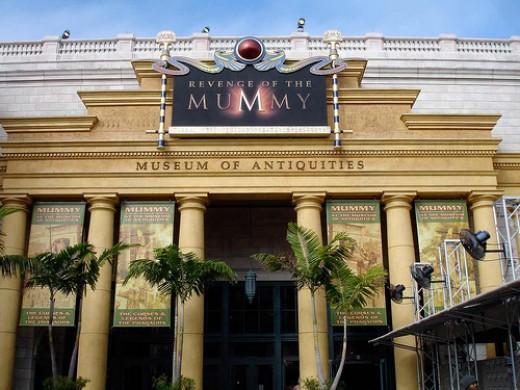 The Revenge Of The Mummy at Universal Studios.