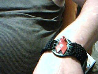 Smaller Crochet Aids Ribbon Bracelet