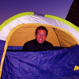 A 2 person tent picture for one.