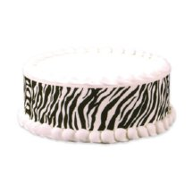 Zebra cake decorating idea