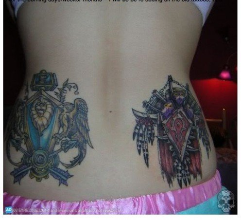 wow tattoos. warcraft tattoo