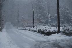 Montreat Road in Winter