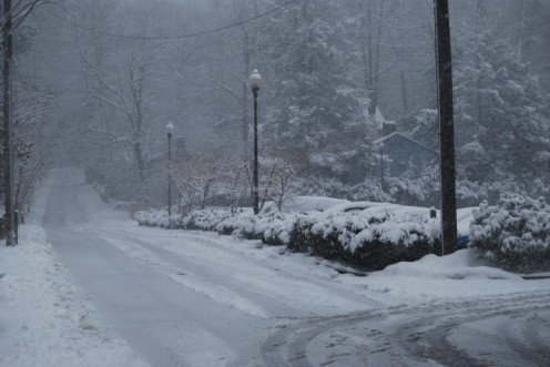 Montreat Road in Winter