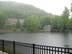 View of Lake Susan, with Main Conference Center Building in the Background to the Left