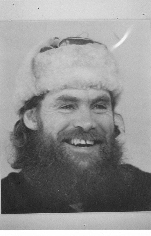 The writer at 41, as an expeditioner with the Australian National Antarctic Research Expeditions.  He'd been into auto writing for eleven years at this stage.
