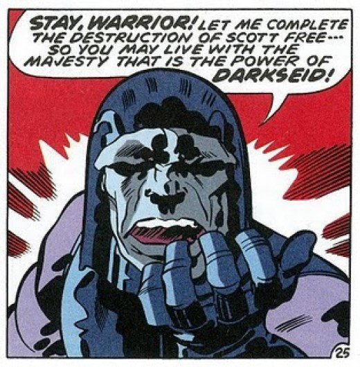 Jack Kirby's Darkseid of Apokolips is rumored to be the major villain for the upcoming season (art by Jack Kirby)