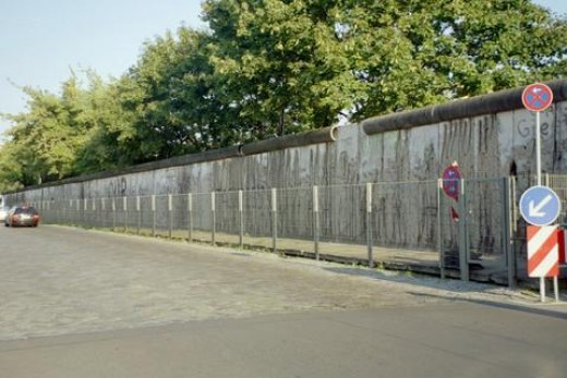 At one time, the Berlin wall divided Berlin Germany in half between the European-US-British sector and the Soviet sector.