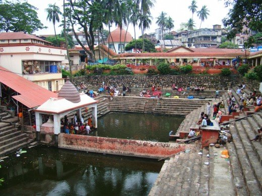 The sacred pond called Soubhagya Kunda at the temple