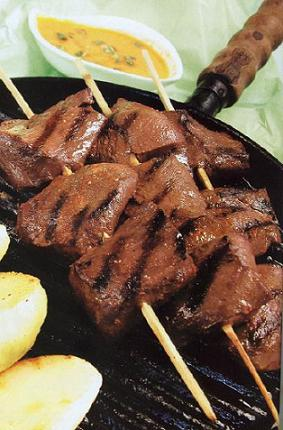 Peruvian anticuchos recipe - beef heart