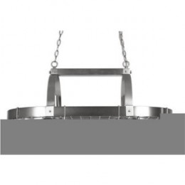 Checkolite P1002-71 Country Kitchen Transitional 2-Light Pot Rack